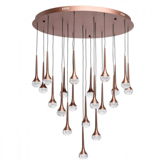 Hi-Tech Flensburg Café métal acrylique transparent 37W LED  3200 Lm 4000K can be dimmable with wall switch 609015520