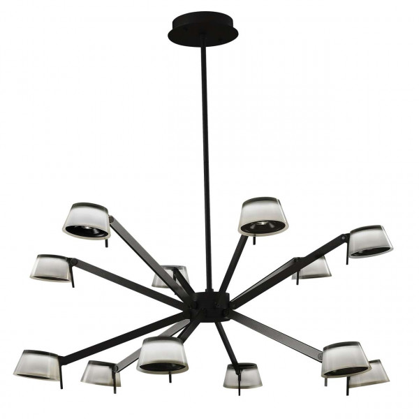 Loft Hamburg Metal noir et blanc acrylique 38W LED  2400 Lm 4000K  dimmable with wall switch 605014412