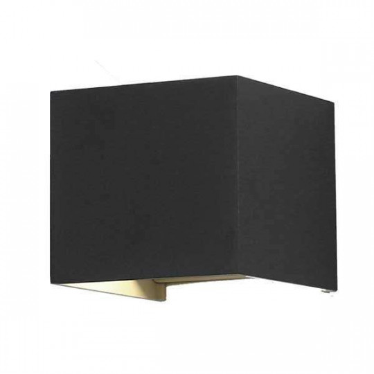 Applique LED murale 12W étanche IP54 Noir - Blanc Chaud 3000K