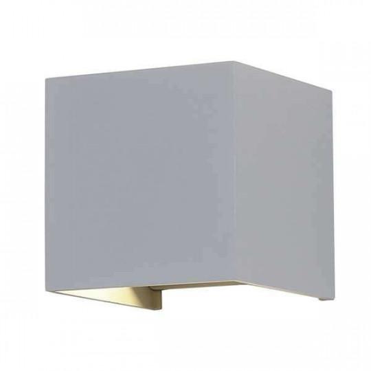 Applique LED murale 12W étanche IP54 Gris - Blanc Chaud 3000K