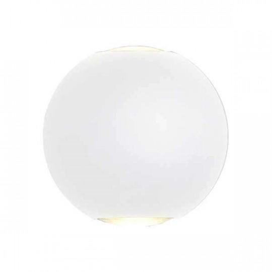 Applique LED murale 6W Rond étanche IP54 Blanc - Blanc Chaud 3000K