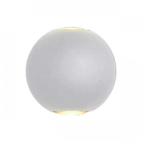 Applique LED murale 6W Rond étanche IP54 Gris - Blanc Chaud 3000K