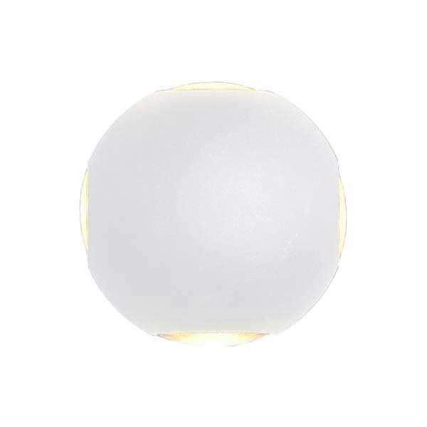 Applique LED murale 4W Rond étanche IP54 Blanc - Blanc Naturel 4000K