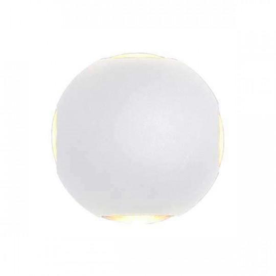 Applique LED murale 4W Rond étanche IP54 Blanc - Blanc Chaud 3000K