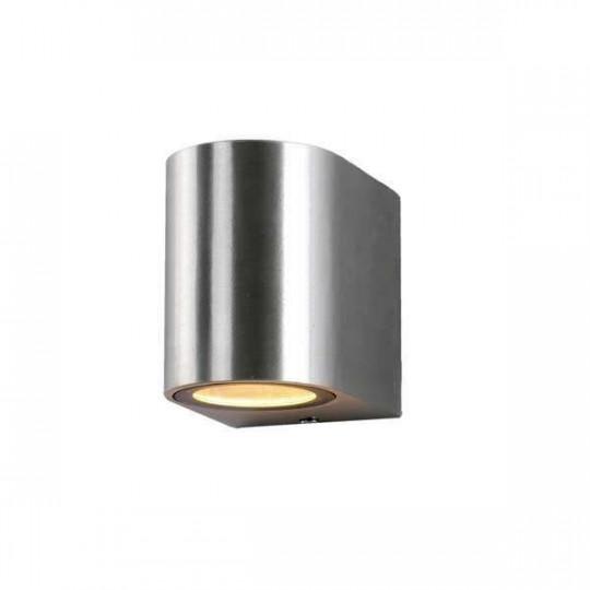 Applique LED murale pour 1 ampoule 1xGU10 étanche IP54 Métal brossé