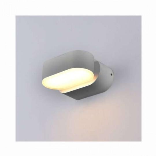 Applique LED murale 6W étanche IP54 Gris - Blanc Chaud 3000K