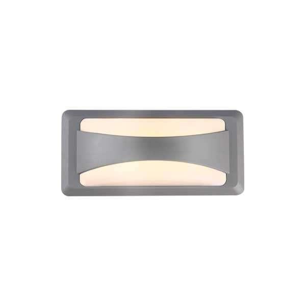 Applique LED murale 12W étanche IP65 Gris - Blanc Naturel 4200K