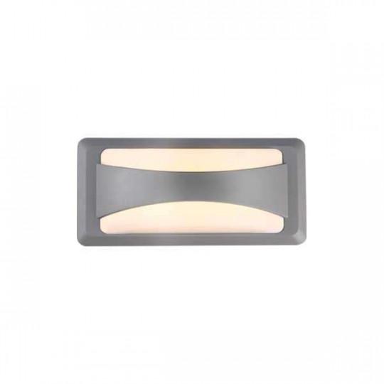 Applique LED murale 12W étanche IP65 Gris - Blanc Chaud 3000K