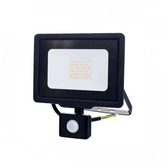 Projecteur LED à Détecteur 30W étanche IP65 2400lm (160W) - Blanc du Jour 6000K