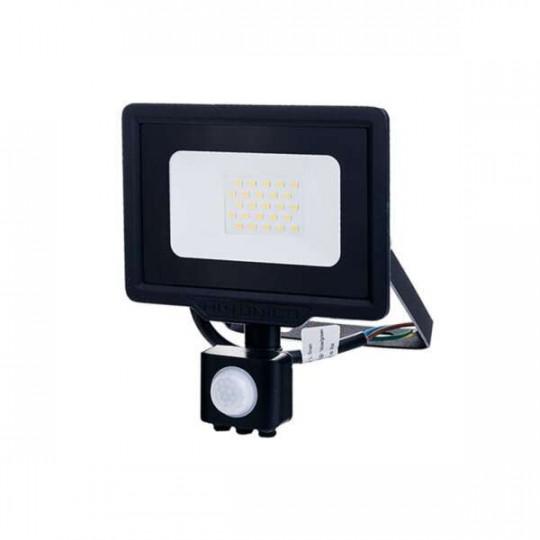 Projecteur LED à Détecteur 20W étanche IP65 1600lm (107W) - Blanc du Jour 6000K