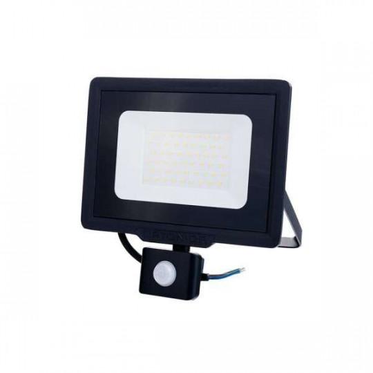 Projecteur LED à Détecteur 50W étanche IP65 4000lm (267W) - Blanc Naturel 4500K