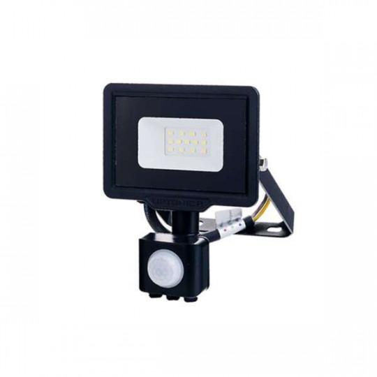 Projecteur LED à Détecteur 10W étanche IP65 800lm (53W) - Blanc Chaud 2700K