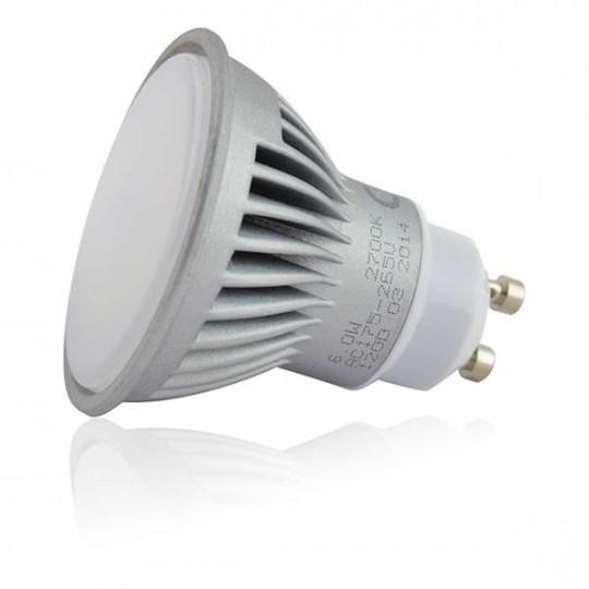 Spot LED GU10 6W éclairage 50W Teinte de lumière-Blanc Chaud (2700K)
