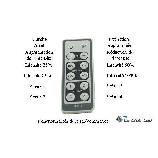 Variateur 220V pour LED avec télécommande