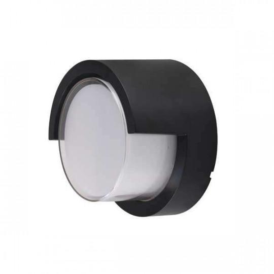 Applique LED murale 15W Rond étanche IP65 Noir - Blanc Naturel 4200K