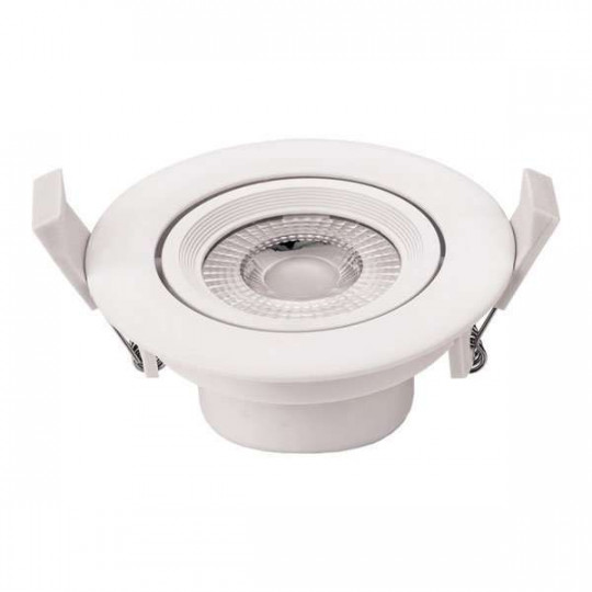 Downlight LED 5W rond ∅90mm Blanc - Blanc Chaud 2700K