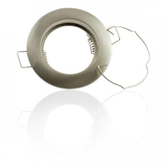 Support de spot encastrable rond aluminium Aluminium brossé