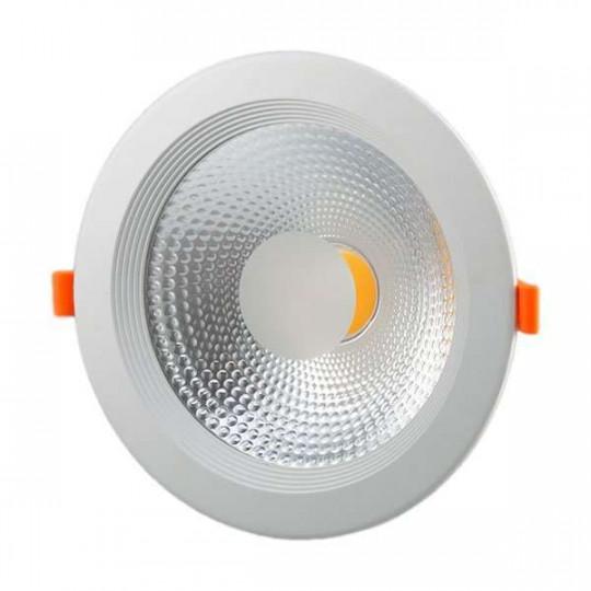 Downlight LED 20W rond ∅195mm - Blanc Chaud 3000K