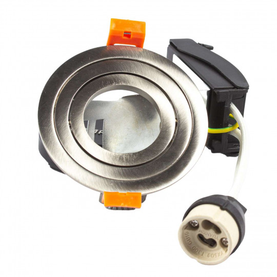Support spot rond encastrable orientable aluminium