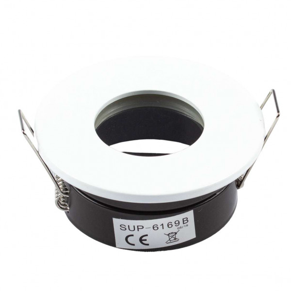 Support de spot étanche IP65 - rond blanc