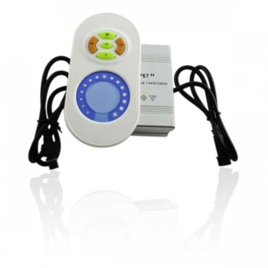 Contrôleur et télécommande pour spots mono-couleur