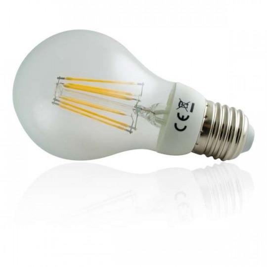 Ampoule LED à filament COB E27 6W équivalent 50W - Blanc Chaud 2700K