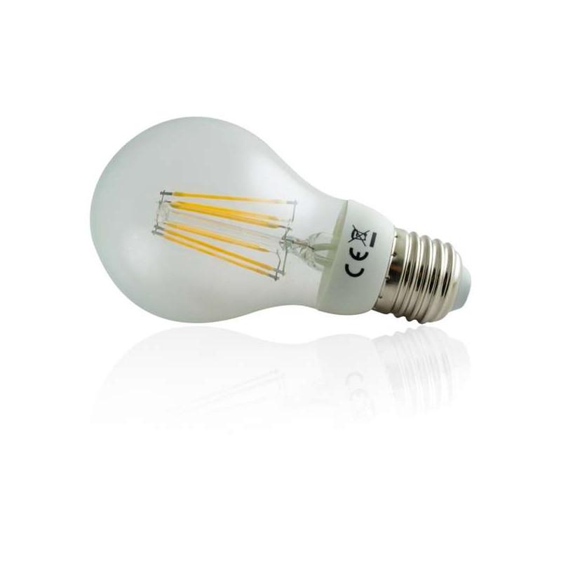 Ampoule LED à filament COB E27 6W équivalent 50W Blanc Chaud (2700K)