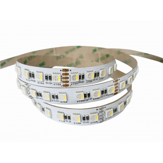 Ruban LED RGBW Blanc du Jour 6000K 96 LED/m 27W/m - Longueur 10m