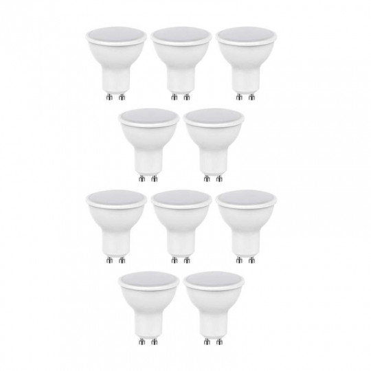 Lot de 10 Spots LED GU10 5W (eq. 40W) 320lm Premium - Blanc Chaud 2700K