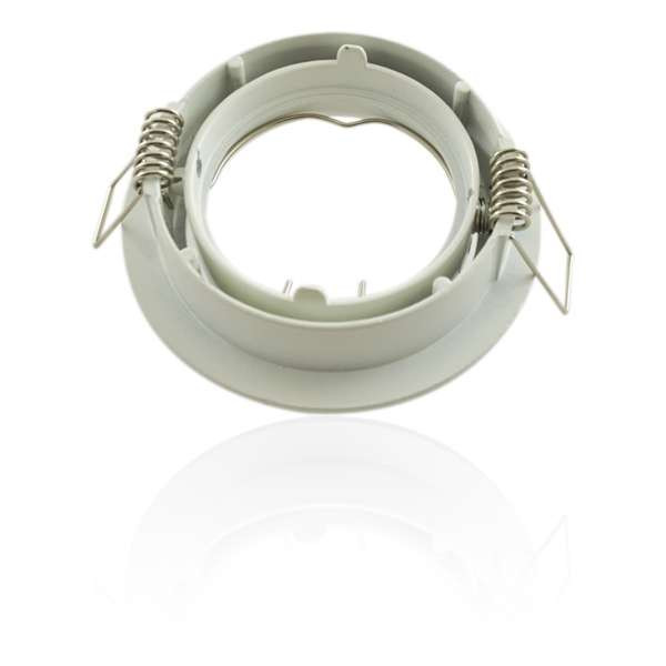Support encastrable rond orientable blanc