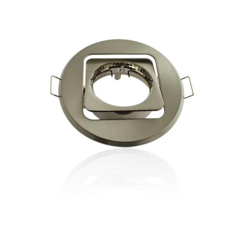 spot encastrable orientable de forme ronde avec int rieur carr. Black Bedroom Furniture Sets. Home Design Ideas