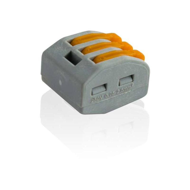 Borne De Connexion électrique 3 Fils Type Wago 222 413
