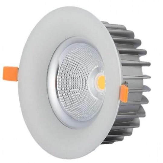 Downlight LED 60W rond ∅230mm Blanc - Blanc Naturel 4500K