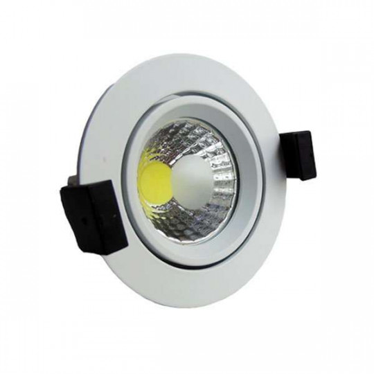 Downlight LED 8W rond ∅95mm - Blanc Chaud 2700K