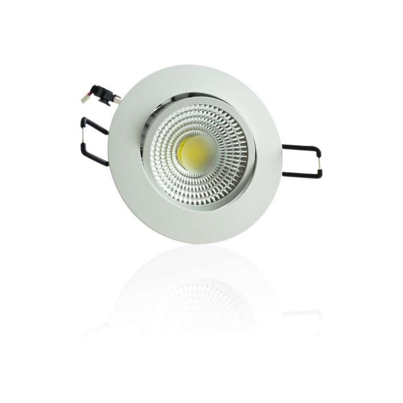 Plafonnier encastrable blanc LED 5W COB - éclairage 40W
