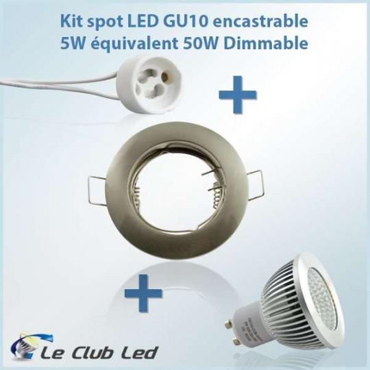Kit Spot LED GU10 5W COB...