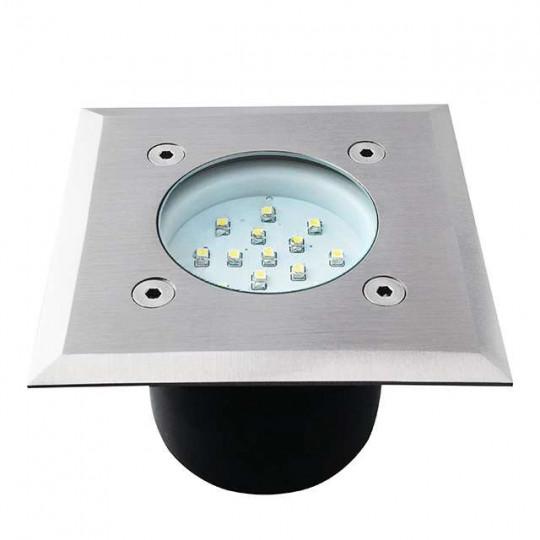 Borne LED encastrable sol 0,7W  étanche carré