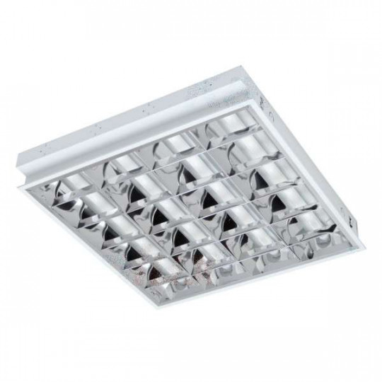 Dalle avec Grille encastrable 610x595mm pour Tubes LED T8 4x18W Max REGIS