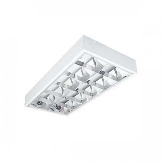 Dalle avec Grille saillie 615x300mm pour Tubes LED T8 2x18W Max