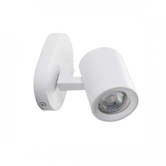 Applique saillie pour 1 ampoule GU10 - Blanc