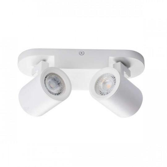 Applique saillie pour 2 ampoules GU10 - Blanc