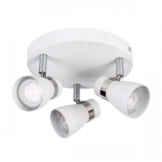 Applique saillie pour 3 ampoules GU10 - Blanc