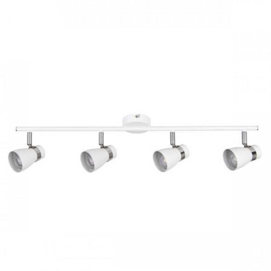 Applique saillie pour 4 ampoules GU10 - Blanc