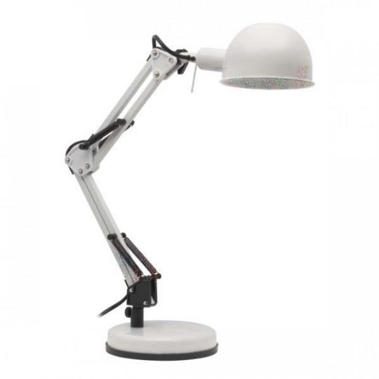 Lampe de bureau 40W Blanc - culot E14