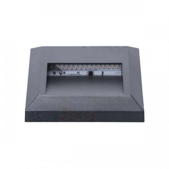 Luminaire Rectangulaire 1,1W Étanche IP65 AC220-240V Gris CROTO - Blanc du Jour 6500K
