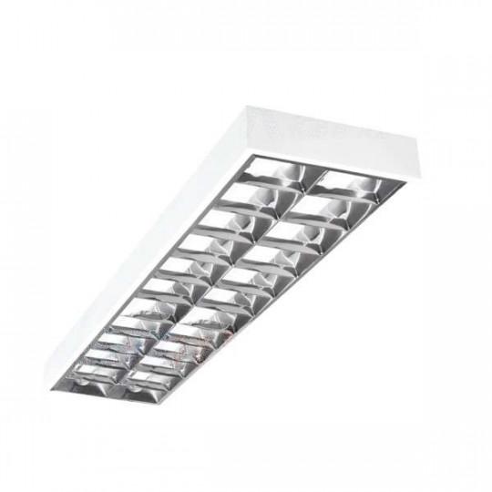 Dalle avec Grille saillie 1225x295mm pour Tubes LED T8 2x36W Max
