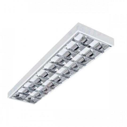 Dalle avec Grille saillie 1220x301mm pour Tubes LED T8 2x36W Max