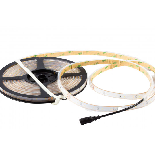 Ruban LED Blanc 60 LED/m 4,8W/m IP65 5m - Blanc Chaud 3000K