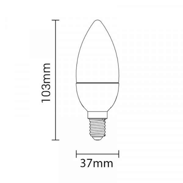 Ampoule LED E14 6W Flamme - équivalent 40W