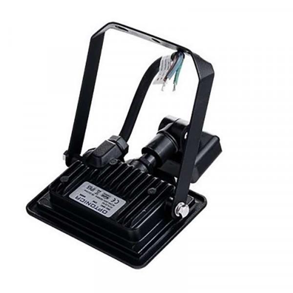 Projecteur LED Noir 20W (100W) à Détecteur IP65 1600lm - Blanc Chaud 2700K